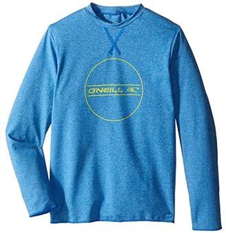 O'Neill Kids Kids 24-7 Hybrid Long Sleeve Sun Tee (Little Kids/Big Kids) (Brite Blue) Boy's Swimwear