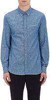 Officine Generale Men's Cotton Button-Down Shirt-BLUE