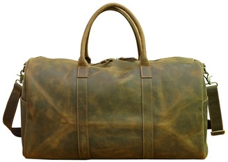 Touri Genuine Leather Holdall In Russett Brown