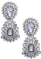 Nina Women's Crystal Cluster Drop Earrings