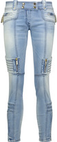 Just Cavalli Low-rise paneled skinny jeans