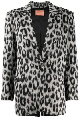Andamane Emily snow leopard blazer