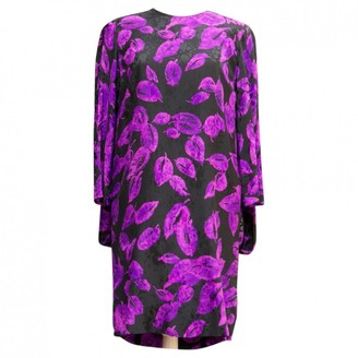 Pierre Cardin Purple Silk Dress for Women Vintage
