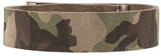 Manokhi Camouflage Leather Choker