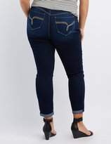 Charlotte Russe Plus Size Dark Wash Butt Lifter Jeans