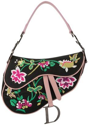 Christian Dior 2000s pre-owned floral embroidery Saddle shoulder bag