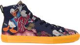 Gucci Donald Duck jacquard hi-top sneakers - men - Cotton/Leather/rubber - 7.5