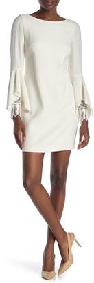 Elie Tahari Dori Bell Sleeve Lace Cuff Mini Dress