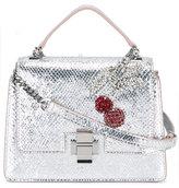 No.21 metallic cherry brooch bag - women - Leather/glass - One Size