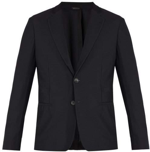 Giorgio Armani Mesh Dinner Jacket - Mens - Black