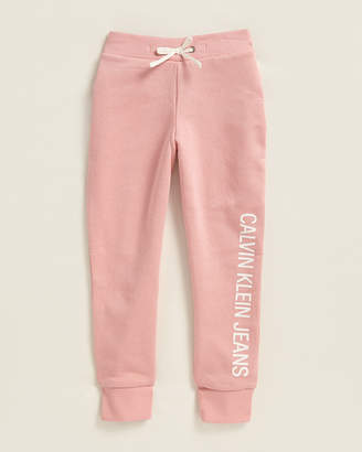 Calvin Klein Jeans Girls 4-6x) Vertical Logo Fleece Sweatpants