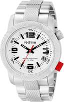 Redline red line Men's RL-50043-22S Octane Analog Display Japanese Quartz Silver Watch