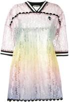Marco De Vincenzo gradient effect lace dress