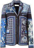 Wunderkind scarf print blazer - women - Silk/Cotton - 36