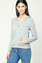 Forever 21 FOREVER 21+ Marled French Terry Hoodie
