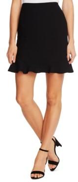 CeCe Ruffled-Hem Skirt