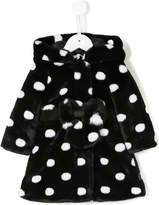 Little Marc Jacobs polka dot faux-fur coat