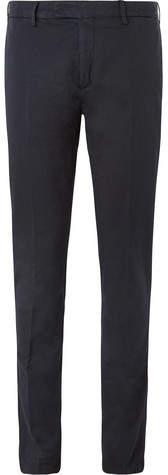 Boglioli Storm-Blue Stretch Cotton And Linen-Blend Suit Trousers