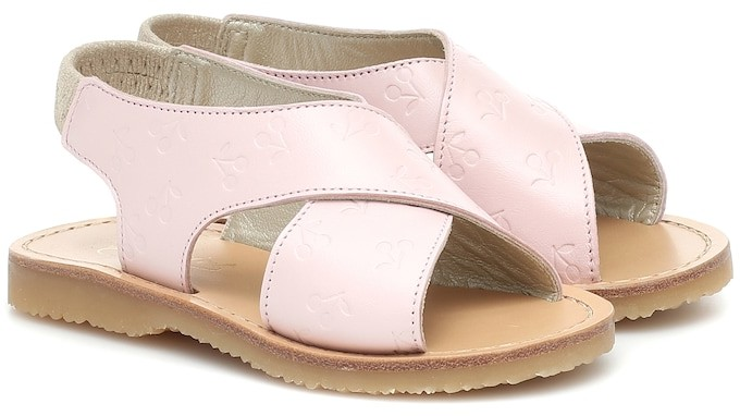 Bonpoint Eloise embossed leather sandals