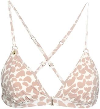LOVE Stories Leopard-print Triangle Bikini Top