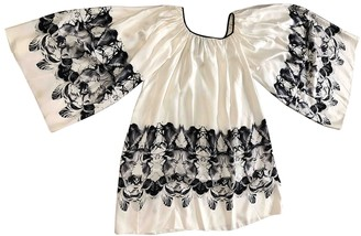 Thomas Wylde White Silk Dress for Women