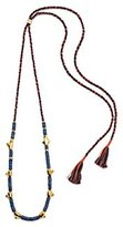 Lizzie Fortunato Simple Tooth Necklace in Lapis of 32-108cm