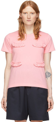 Comme des Garcons Pink Ruffle T-Shirt