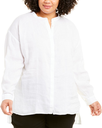 Eileen Fisher Plus Handkerchief Linen Tunic