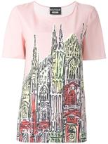 Moschino church print T-shirt - women - Polyester/other fibers - 46