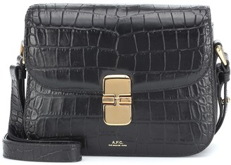 A.P.C. Grace croc-effect leather shoulder bag