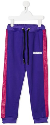 John Richmond Junior Contrast Logo Track Pants