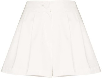 Adriana Degreas High-Rise Pleated Shorts