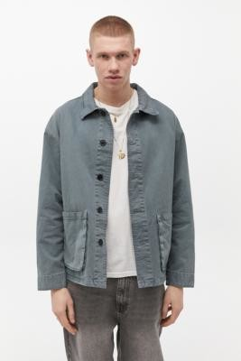 BDG Aqua Twill Chore Jacket - Blue L at Urban Outfitters