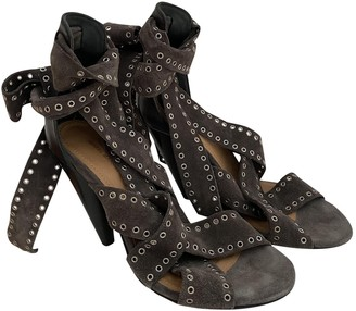Isabel Marant Grey Suede Sandals
