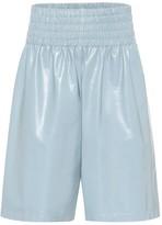 Bottega Veneta High-rise leather shorts