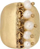 Lucky Brand Gold-Tone Shaky Imitation Pearl Ring