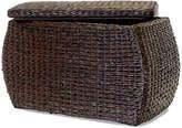 Baum-Essex Rectangular Bulge Havana Weave Rush Storage Ottoman with Lift-off Lid