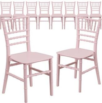 Flash Furniture 10-Pack Kids' Pink Resin Chiavari Chair