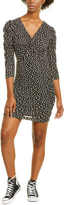 Rebecca Taylor Dotted Wool-Blend Sheath Dress
