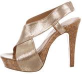 Diane von Furstenberg Metallic Crossover Sandals