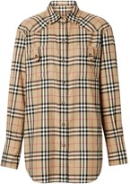 Burberry Vintage Check Flannel Oversized Shirt