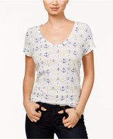Maison Jules V-Neck Printed T-Shirt, Only at Macy's