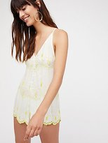 Boo Yah Embroidered Romper by Intimately at Free People