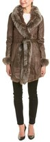 La Fiorentina Belted Leather Coat.