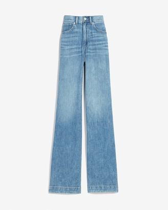Express High Waisted Lightweight Wide Leg Jeans