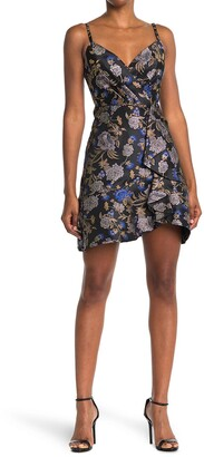 Rachel Roy Ruffle Jacquard Mini Dress