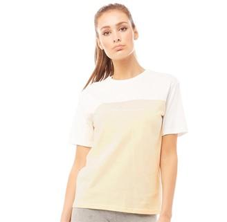Closure London Womens Panelled Script T-Shirt Stone