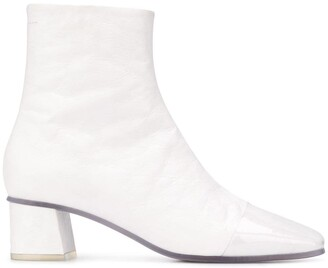 MM6 MAISON MARGIELA contrasting PVC toe ankle boots