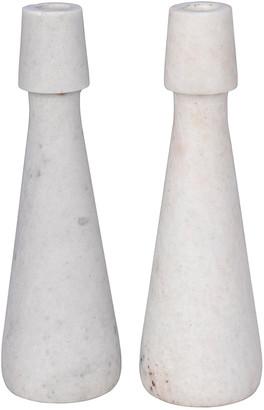 Noir Mitros Set Of 2 Decorative Candle Holders