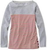 L.L. Bean L.L.Bean Nautical Stripe Tops, Pullover Colorblock